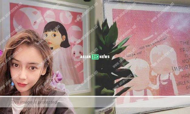 "Chinese star Angelababy hints about the ""betrayal"" through the drawings?"