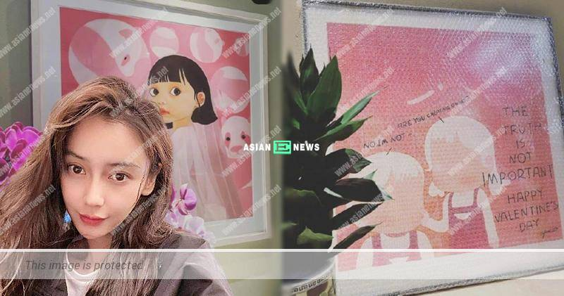 """Chinese star Angelababy hints about the """"betrayal"""" through the drawings?"""
