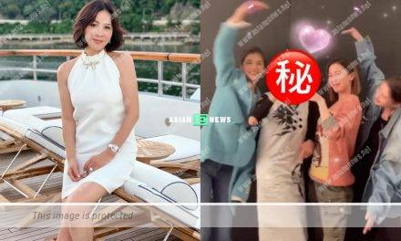 Carina Lau looks young when dancing with Charmaine Sheh and Karena Ng