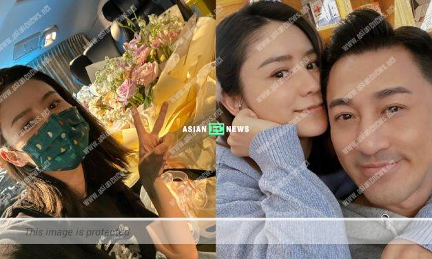Carina Zhang receives a lovely surprise from her husband Raymond Lam