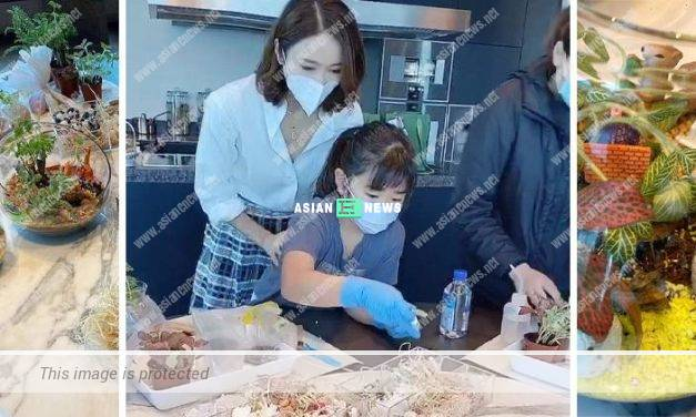 Gigi Lai and her daughter design bonsai together