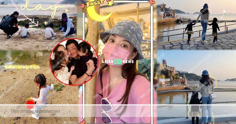 Aaron Kwok and his family catch crabs at the beach
