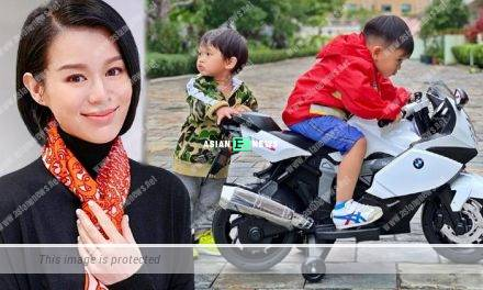 Myolie Wu's husband reminds his eldest son Brendan to take care of his brother