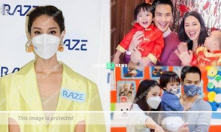Grace Chan shows photo of her younger son Yannick Cheng