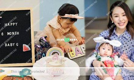 Zoie Tam's daughter is 6 month old; She gives a beautiful cake as celebration