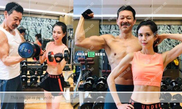 Carman Lee and Zhang Fengyi train together at fitness centre