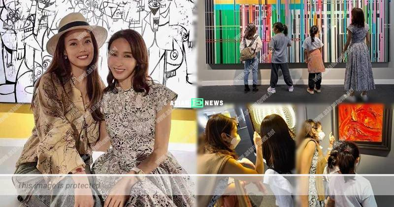 Gigi Lai bumps into Joey Yung at an art exhibition