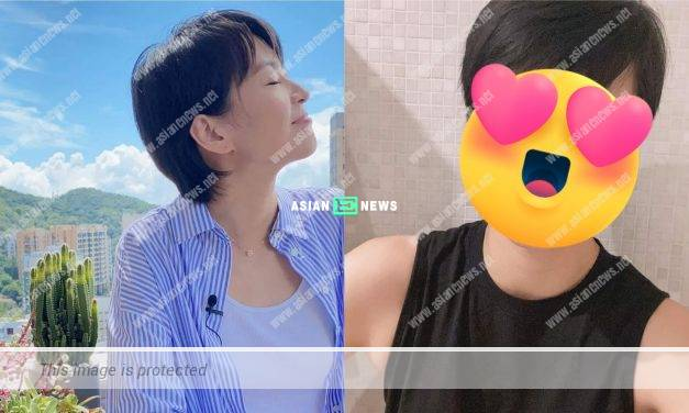 Gigi Leung's new selfie won compliments from the netizens