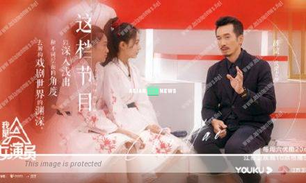 Moses Chan removes his face mask in a Chinese reality show