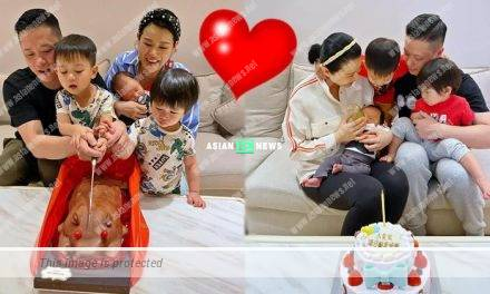 Myolie Wu and her husband Philip Lee show their blissful family photos