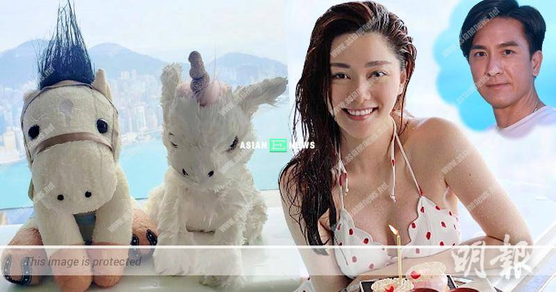 Roxanne Tong's unicorn is wet; Netizens ask if both are taking a shower together