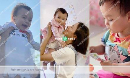 Tavia Yeung takes her daughter for an injection at the hospital