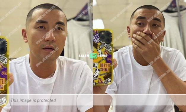 Tony Hung shows his new hairstyle