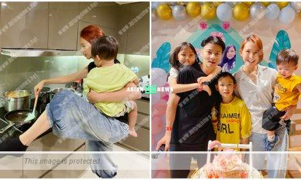 Staged photography? Netizens pointed the photographer could carry Ada Choi's son while cooking