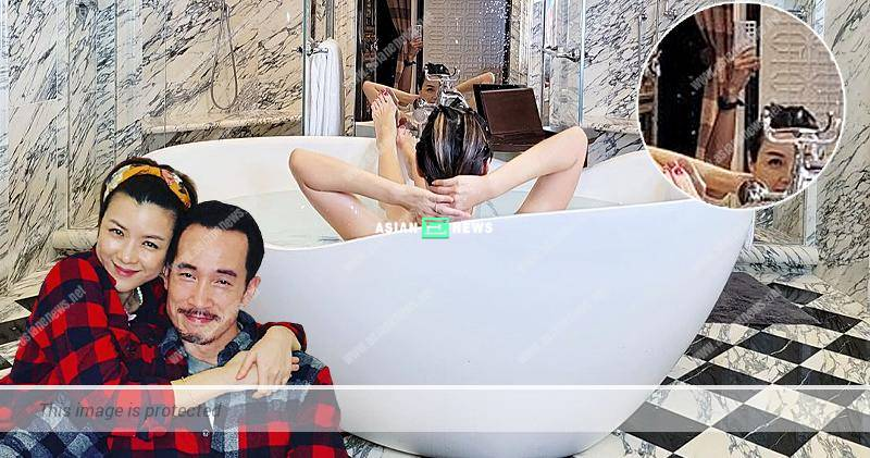 Aimee Chan soaks in the bathtub; Netizens notice Moses Chan's hand