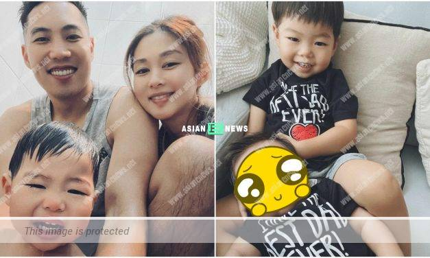 Happy Father's Day! Gracious Eliza Sam shows her second son's face