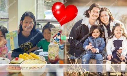 Linda Chung's kids gave the drawing to their daddy on father's day