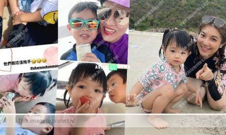 Is Ruco Chan jealous? Phoebe Sin's daughter and Sharon Chan's son hold hands together
