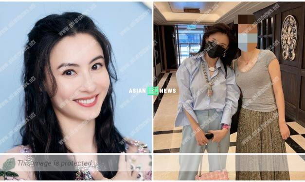 Friendly Cecilia Cheung takes photo with the netizen in Hong Kong