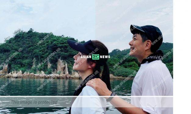 Priscilla Wong and Edwin Siu use a new method to show their love in the air