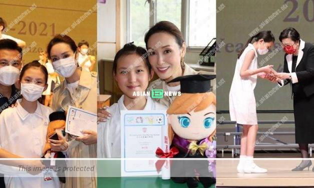 Kenix Kwok and Frankie Lam's daughter graduated from primary school