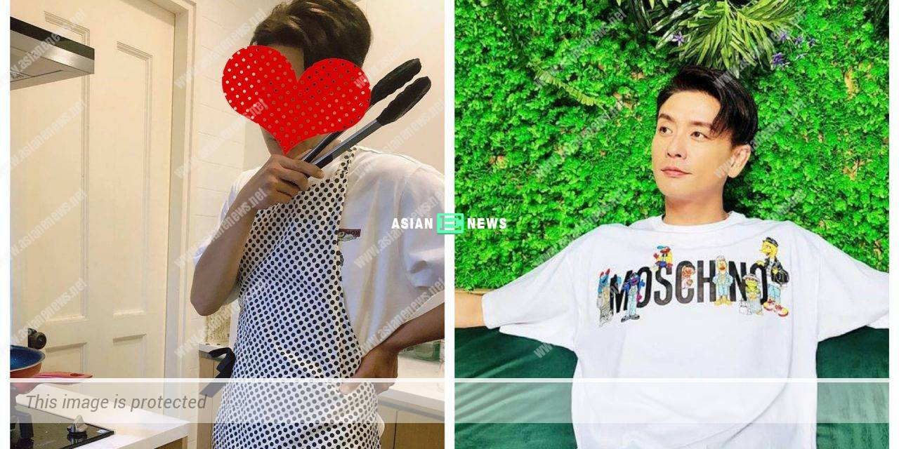 Hong Kong actor Bosco Wong is forced to wear an apron