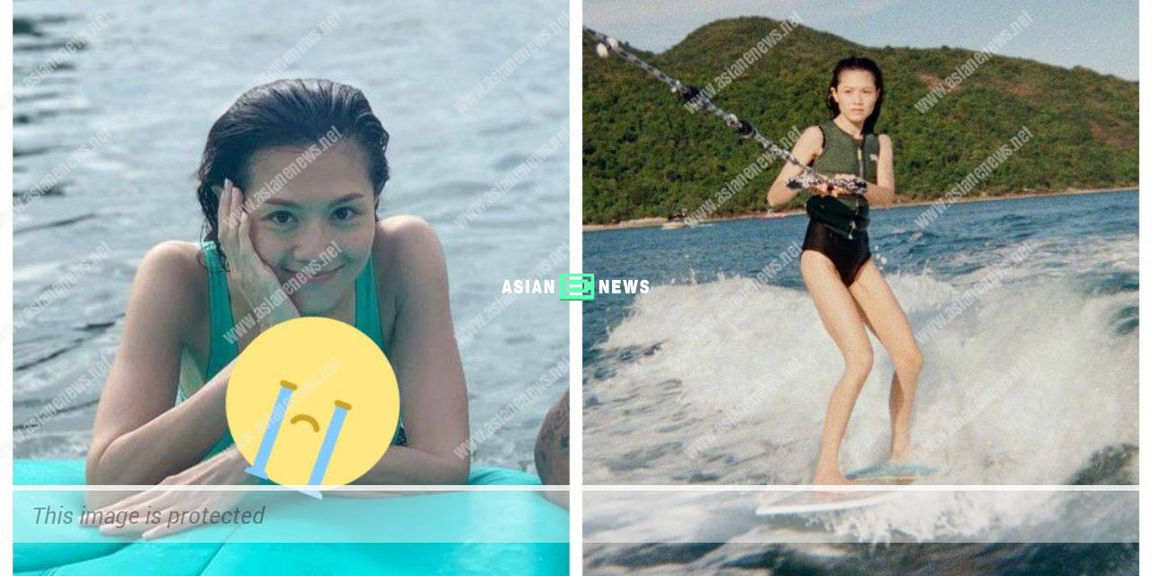 Chrissie Chau looks extremely thin when learning wakesurf