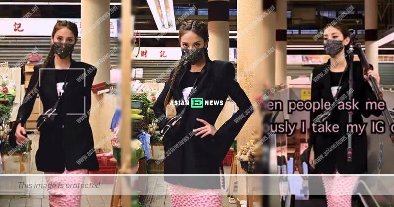 Grace Chan performs catwalk at the market