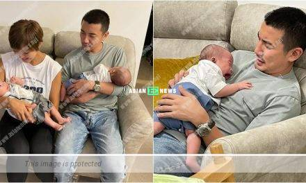 Tony Hung's wife Inez Leong looks experienced when carrying a baby