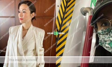 Jessica Hsuan takes selfie at the train station in Hong Kong