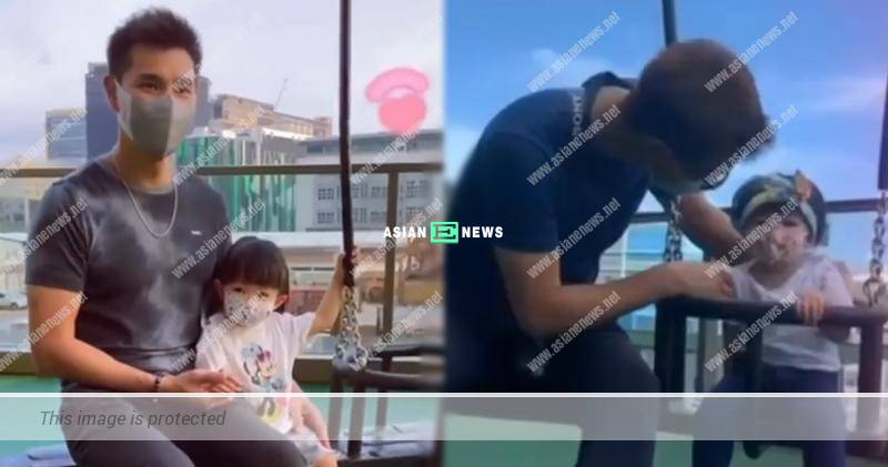 Good father Ruco chan takes his daughter for a swing