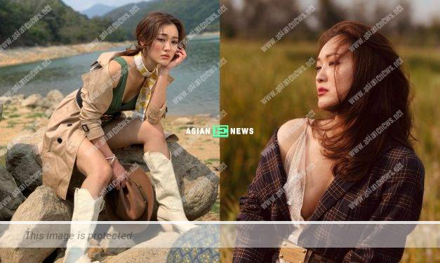 Bowie Cheung shows her sexy photos; She praises Benjamin Yuen is a good photographer
