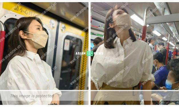 Practical Gigi Lai and her daughters take a train together