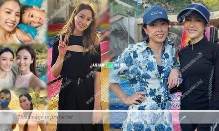 Gigi Lai resembles a young girl at water theme park
