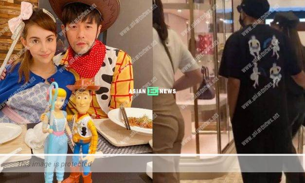 Jay Chou and his wife Hannah Quinlivan go for shopping together in France