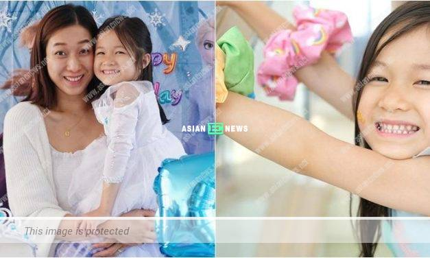 Linda Chung prepares a birthday party for her daughter Kelly: I love you always