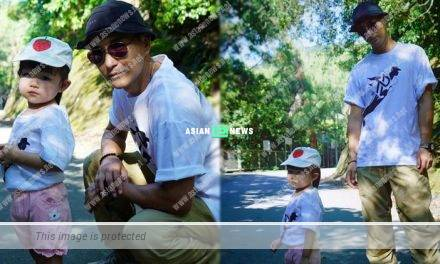 A failed attempt? Ruco Chan's daughter is trying to act cool