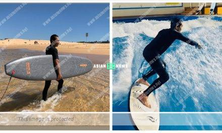 Looks young? 59-year-old Tony Leung Chiu Wai goes for surfing