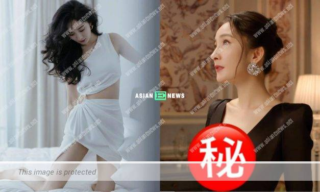 Chinese actress Yang Mi wears deep V evening gown in an advertisement shoot