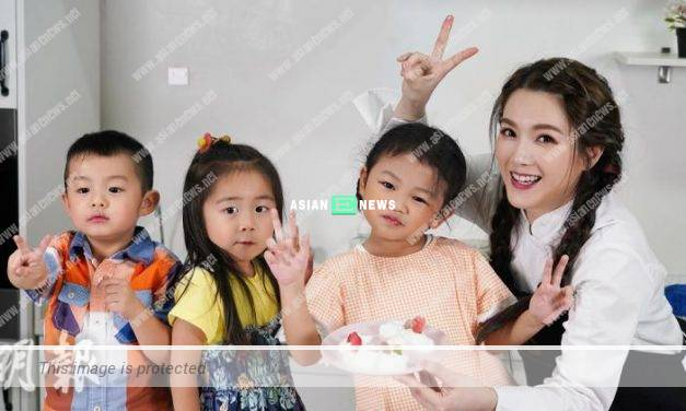 Christine Kuo remains patient when baking dessert together with the children