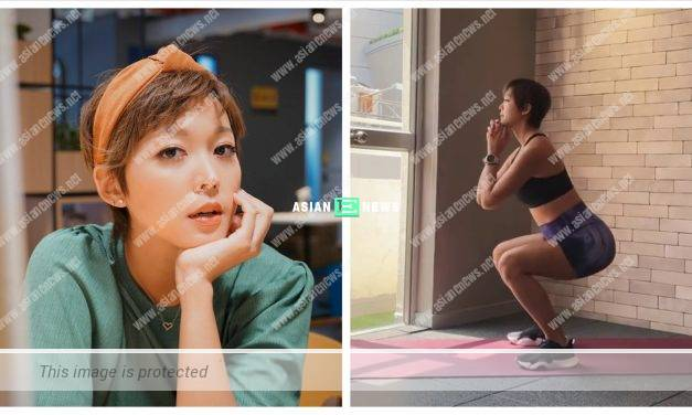 Tony Hung's wife Inez Leong continues her training during her pregnancy