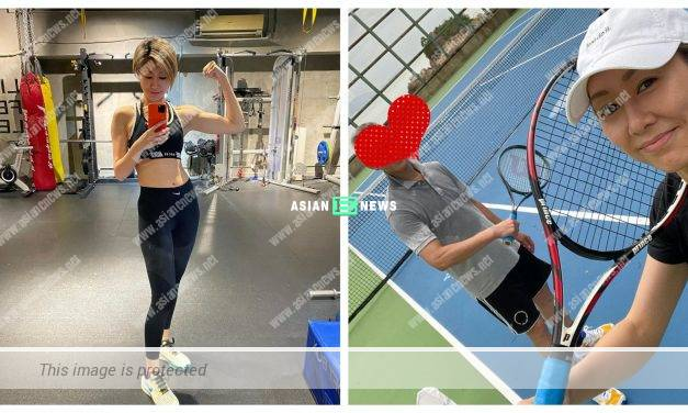 Nancy Wu loves playing tennis together with her father
