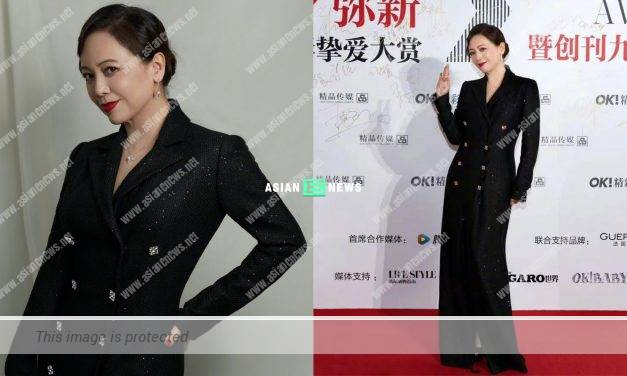 Hong Kong actress Sheren Tang turns up in her role image, Ms Kau at an event