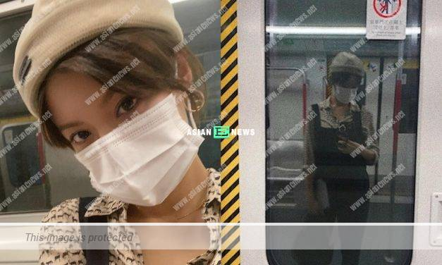 TV Queen Sisley Choi takes a train because of the adverse weather