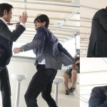 Adam Pak accidentally hits Kevin Cheng's nose during the shooting