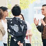 Sunny Chan behaves as an experienced adviser to the young artistes