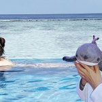 Lucky Ruby Lin works and relaxes at the same time in Maldives