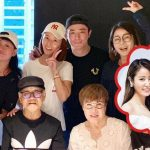 Ruby Lin and Wallace Huo wore white and black outfits at the gathering
