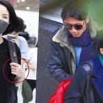 Is wedding bells ringing soon? Faye Wong wears a ring on her left finger