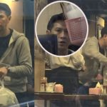 Is Nick Cheung unhappy? He frowned when chatting to his manager